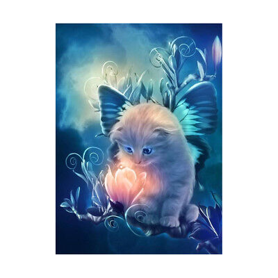 Home DIY 5D Diamond Cute Cat Oil Painting Cross Stitching Embroidery Craft Decor