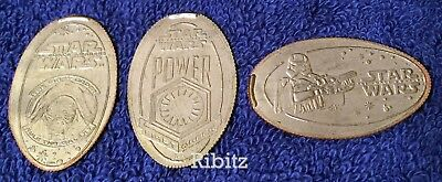 Disneyland Resort elongated quarter dollar STAR WARS + set of 3 + FIRST ORDER +