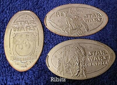 Disneyland Resort elongated quarter dollar STAR WARS - set of 3 - REBEL FORCES