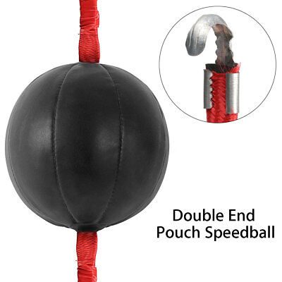 Double End PU Black Speed Ball Boxing Training Fitness Punch Bag with Strap