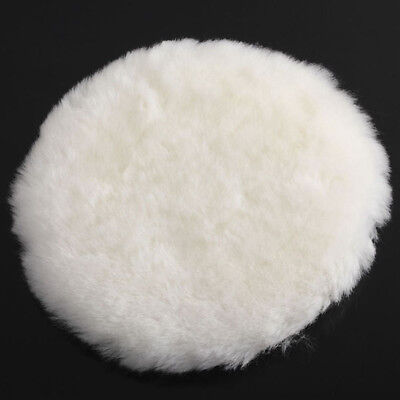 6Inch/150mm White Lambs Wool Machine Polishing Pad for Car Van Polisher Buffer