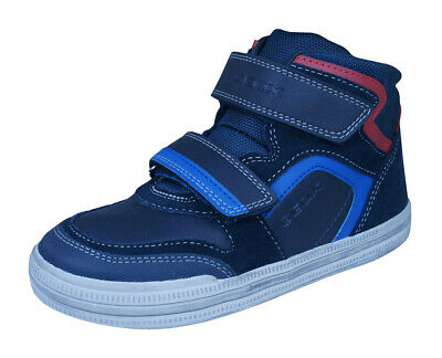 Geox Junior Elvis H Boys Hi-Top Trainer Navy//Grey  60/% OFF RRP