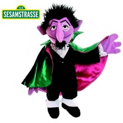 Sesame Street - Plush Soft Toy Hand Puppet Character The Count 72 cm
