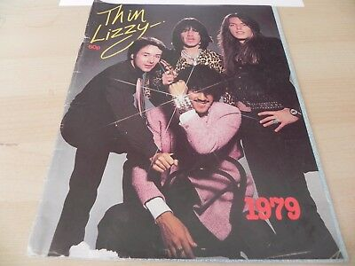 VINTAGE Thin Lizzy 1979 Black Rose Tour Programme / APPROVED BIOGRPAHY