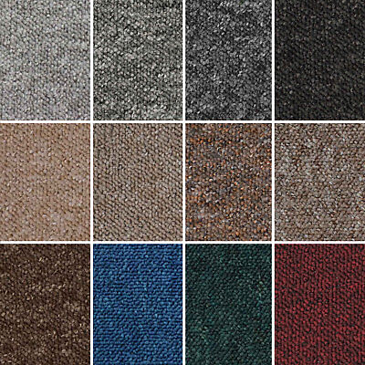 Cheap Flecked Loop Pile Carpet Felt Backed Hardwearing Bedrooms Halls Stairs