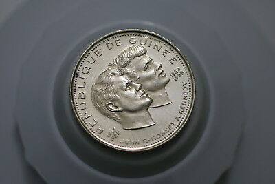 GUINEA 200 FRANCS 1969 - John and Robert Kennedy - Silver A72 SS8