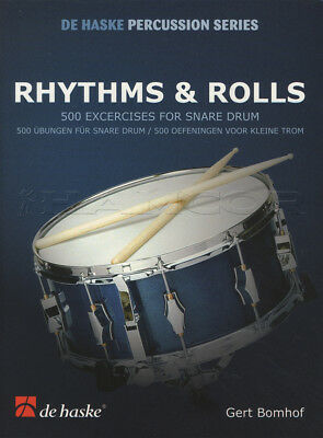 Rhythms & Rolls 500 Exercises for Snare Drum Drumming Sheet Music Book
