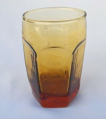 3 Libbey Chivalry Gold Amber Juice Glass