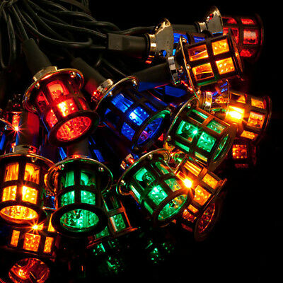 80 LED MAINS MULTI COLOURED LANTERN CHRISTMAS LIGHTS XMAS INDOOR OR OUTDOOR sf80