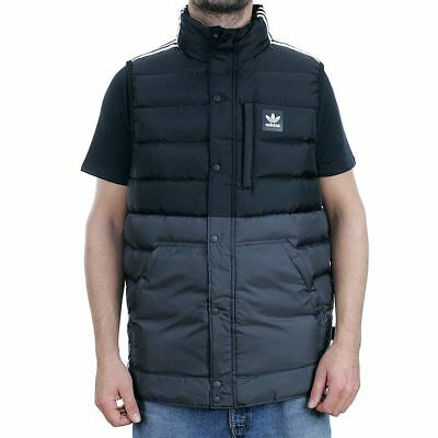 Adidas Skateboarding Down Vest Body Warmer Gilet Jacket Black New Free Delivery