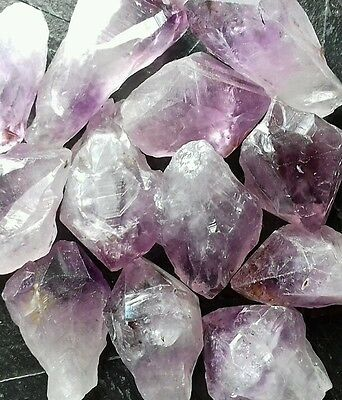 Amethyst natural point healing crystal tumbled stone reiki wicca