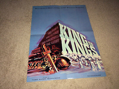 KING OF KINGS Movie Poster Brochure 1961 Nicholas Ray Biblical Epic Advance