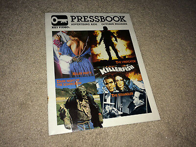 HORROR Promo Movie Pressbook 1980s Slasher Creature KILLER PARTY Vindicator VHS