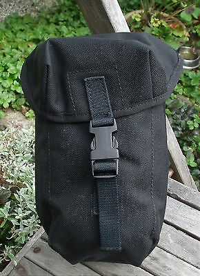 British Army Water Bottle/utility Pouch Pocket Black Webbing PLCE Paintballing