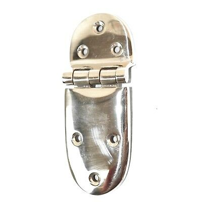 "Chrome Ice Box Hinge 3/8"" Offset Sold One At a Time for Oak Old Antique Icebox"