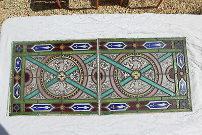 French Brittany Stained Glass Window Ca 1880