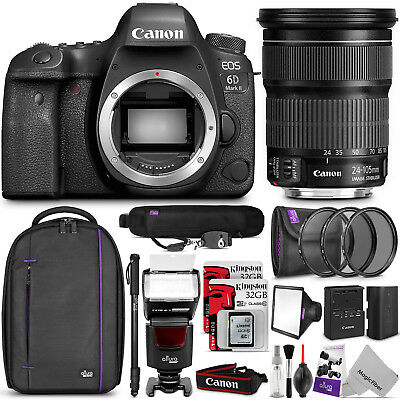 Canon EOS 6D Mark II DSLR Camera with 24-105mm f/3.5-5.6 Lens + Accessory Bundle