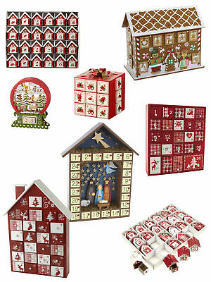 Wooden Christmas Advent Calendar Nativity Gingerbread House Xmas Birdhouse
