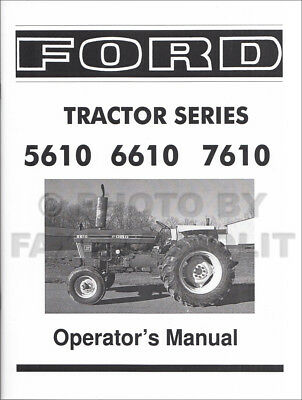 Tractor Manuals & Publications To Assure Years Of Trouble-Free Service Ford Tractor 2600 3600 4100 4600 Operators Manual
