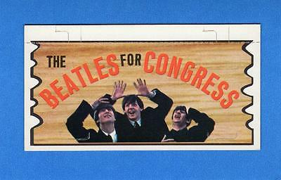 The Beatles Plaks Topps #4 THE BEATLES FOR CONGRESS