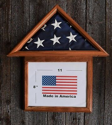 3 X 5 MESQUITE WITH FRAME FLAG DISPLAY CASE USA MADE AMERICAN MILITARY BOX mpf72