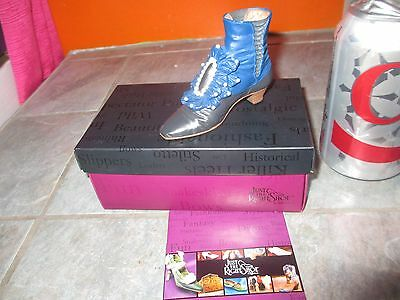 JUST THE RIGHT SHOE ' Victorian Ankle Boot  ' MINIATURE SHOE Figurine with BOX