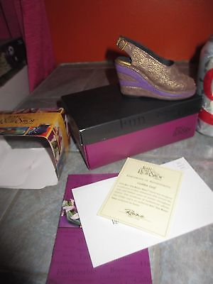 JUST THE RIGHT SHOE ' Golden Leaf  ' MINIATURE SHOE Figurine with COA & BOX