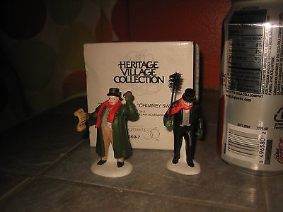 Dept 56 Heritage Village TOWN CRIER & CHIMNEY SWEEP Set of 2 Figurines with Box