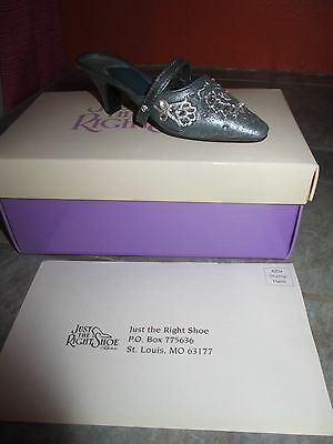 JUST THE RIGHT SHOE ' Shimmering Night ' MINIATURE SHOE Figurine with BOX