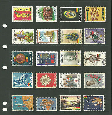 Commonwealth Ghana  Africa   one stock sheet mix collection stamps
