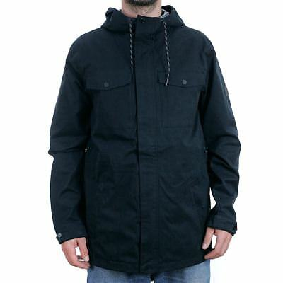 Volcom 3L Rain Jacket Black Snowboard Coat Skate New Free Delivery