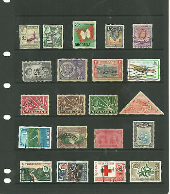 Commonwealth Rhodesia Nyasland    Africa   one stock sheet  collection stamps