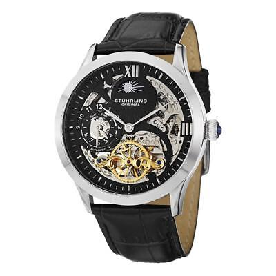 Stuhrling Original 571 33151 Tempest II Automatic Skeleton Dual Time Mens Watch