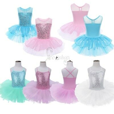Girls Kids Tutu Ballet Leotard Dance Dress Ballerina Unitard Dance Wear Costume