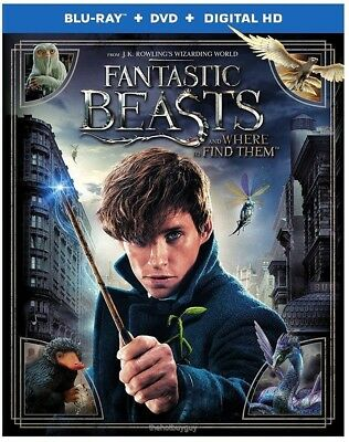 Fantastic Beasts and Where to Find Them (Blu-ray/DVD, 2017, 2-Disc Set, Digital)
