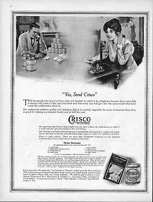 1916 Crisco Oyster Shortcake Recipe Grocer Housewife Vintage Kitchen Decor Ad