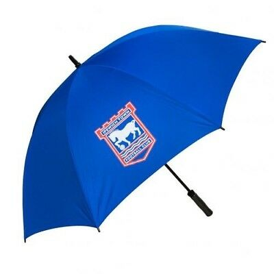 Ipswich Town Football Club Crested Blue Single Canopy Golf Umbrella Free UK P&P