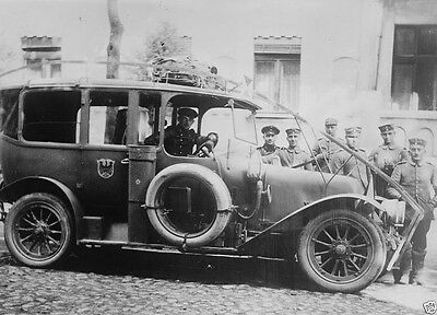 German army automobile equipped with a wire cutter 1914 World War I 8x10 Photo