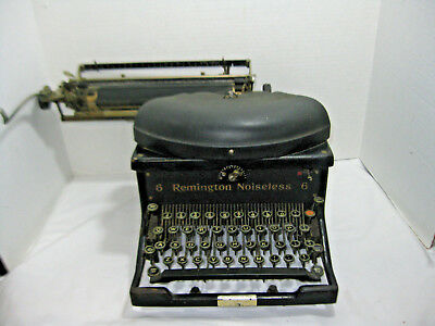 VIntage 6 Remington Noiseless Typewriter Standard Manual Writing Antique