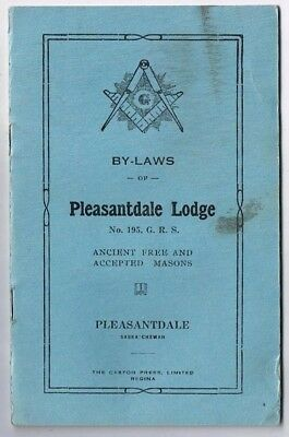 Saskatchewan Free Masons By Laws Pleasantdale Lodge Chapter No 195