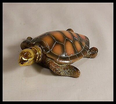 New Decorative Turtle Sea Tortoise Shell Gold Head #3 No Soup Land Figurine Egg