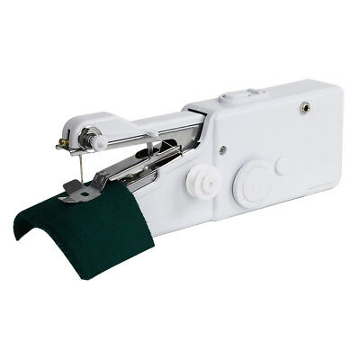 Mini Portable Electric Tailor Stitch Hand-held Sewing Machine Home Travel White