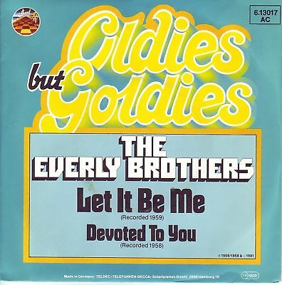 """""""7"""" - THE EVERLY BROTHERS - Let it be me"""