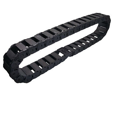 US Stock 1M 1000mm Black Long Nylon Cable Drag Chain Wire Carrier 18 x 37mm