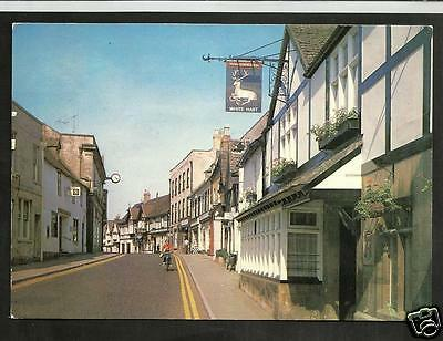 HVP Early Postcard, High Street, Winchcombe, Gloucs. shows White Hart Inn