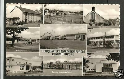 ICY Early Multiview Postcard, Headquarters, Northern Forces, Central Europe