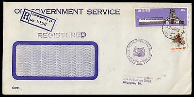 Singapore Official 1978 Registered Cover