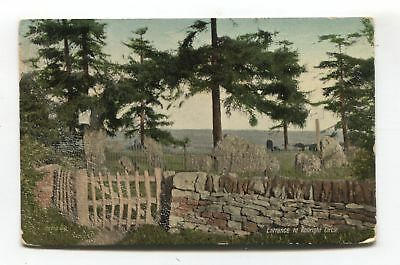 Entrance to Rollright Circle - ancient stones - 1907 Oxfordshire postcard