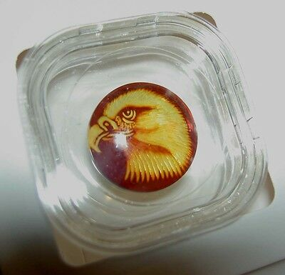Carved Baltic Amber Cameo - Eagle - 6.5 CT 20 mm Round A Tribute to Nature JTV