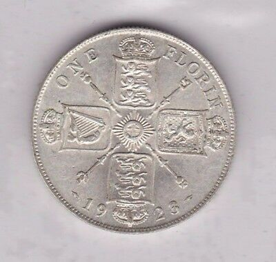 1923 George V 50% Silver Florin In Good Very Fine Or Better Condition